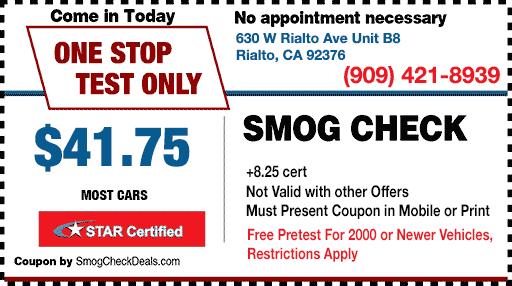 Smog Check Coupon